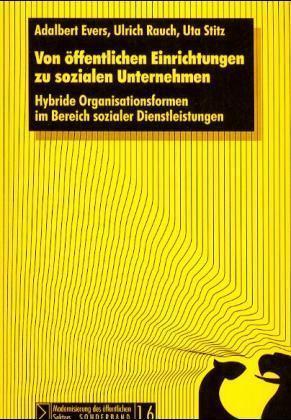 Von öffentlichen Einrichtungen zu sozialen Unternehmen als Buch
