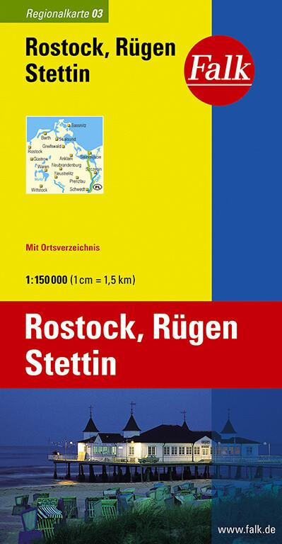Falk Regionalkarte 03. Rostock, Rügen, Stettin1 : 150 000 als Buch