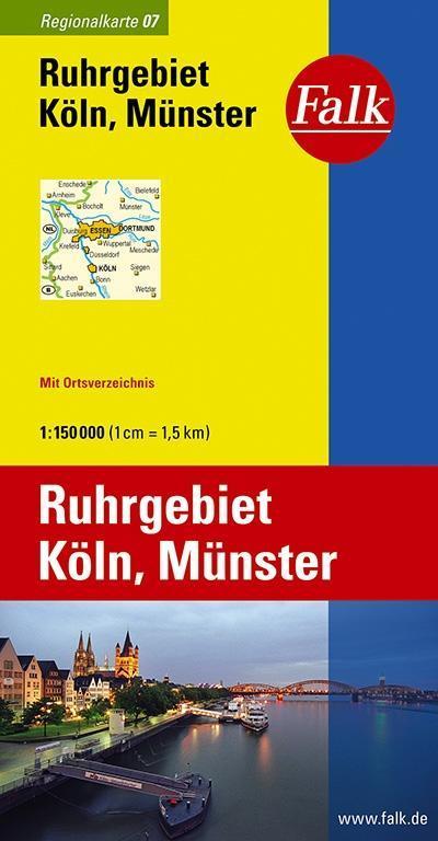 Falk Regionalkarte 07. Ruhrgebiet, Köln, Münster 1 : 150 000 als Buch