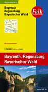 Falk Regionalkarte 13. Bayreuth, Regensburg, Bayerischer Wald. 1 : 150 000