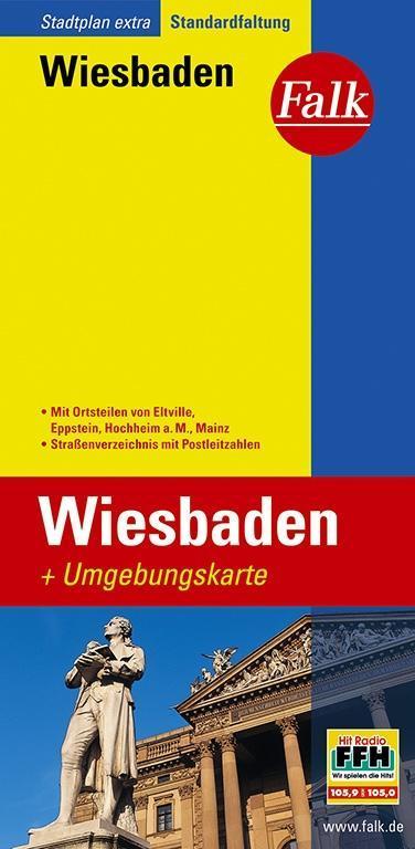 Falk Stadtplan Extra Standardfaltung Wiesbaden ...