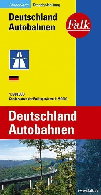 Falk Länderkarte Deutschland Autobahnen 1 : 500 000 als Buch