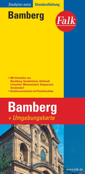 Falk Stadtplan Extra Standardfaltung Bamberg 1 : 15 000 als Buch