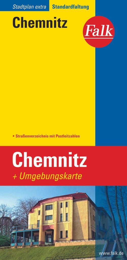 Falk Stadtplan Extra Standardfaltung Chemnitz a...