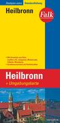 Falk Stadtplan Extra Standardfaltung Heilbronn mit Ortsteilen von Flein, Lauffen
