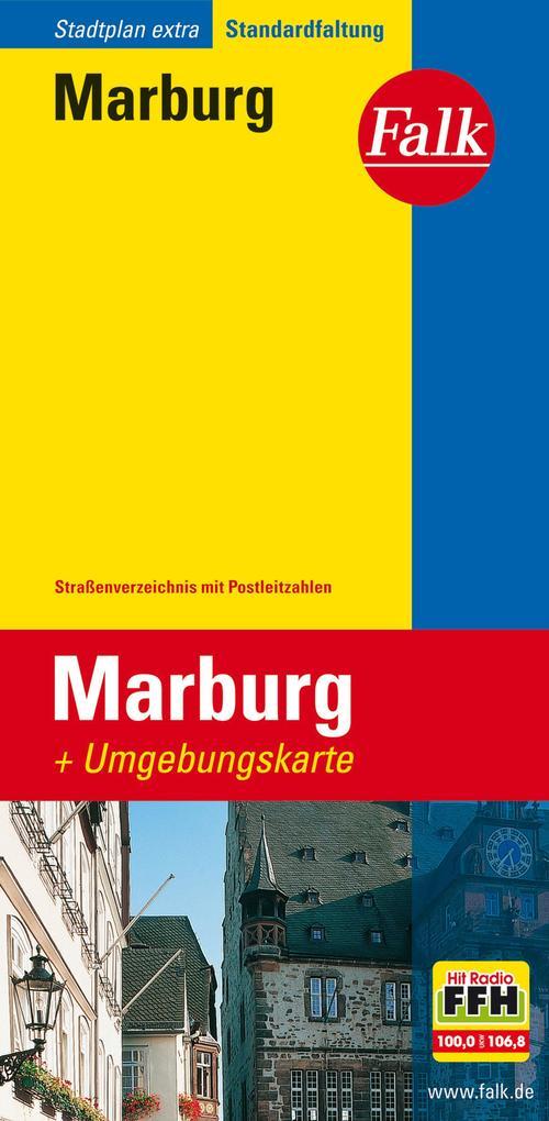 Falk Stadtplan Extra Standardfaltung Marburg 1 : 16 000 als Buch