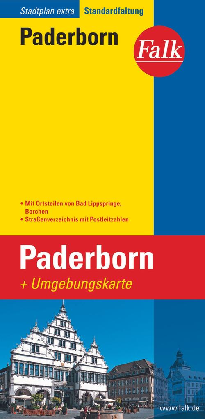Falk Stadtplan Extra Standardfaltung Paderborn ...