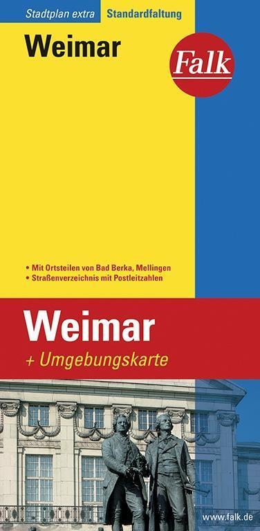 Falk Stadtplan Extra Standardfaltung Weimar als Buch