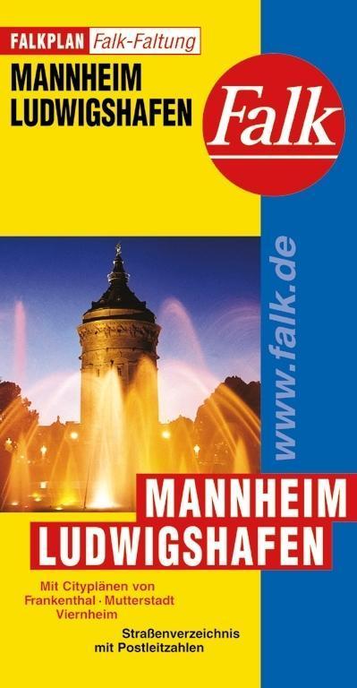 Falk Stadtplan Falkfaltung Mannheim / Ludwigshafen 1 : 25 000 als Buch