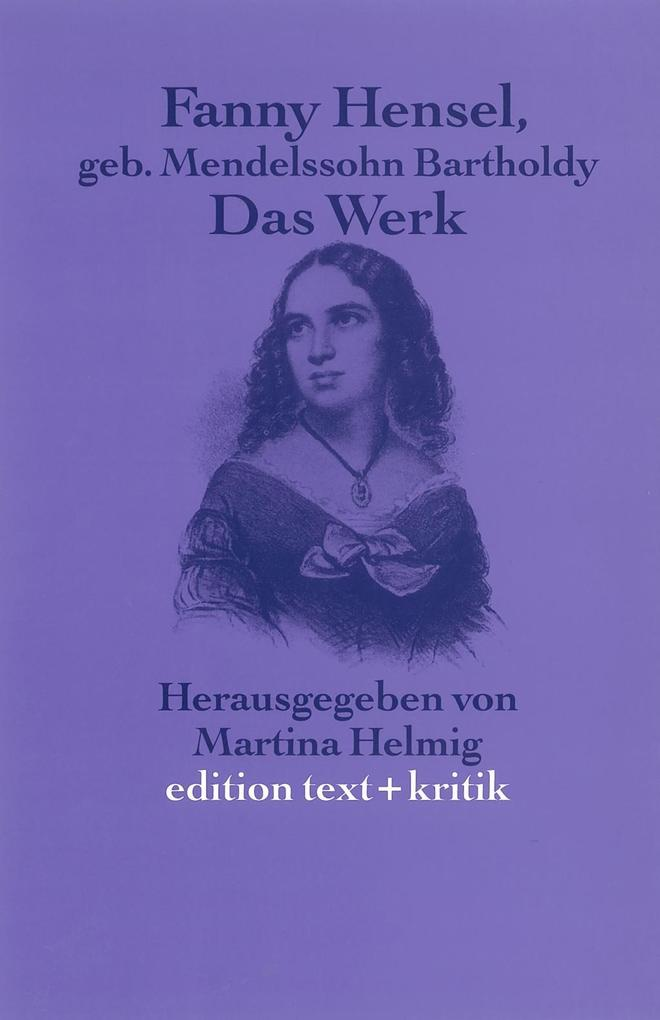 Fanny Hensel, geborene Mendelssohn Bartholdy als Buch