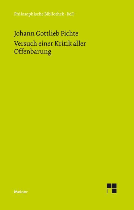 Versuch einer Kritik aller Offenbarung (1792) als Buch