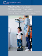 What Can We Learn from Nutrition Impact Evaluations?: Lessons from a Review of Interventions to Reduce Child Malnutrition in Developing Countries