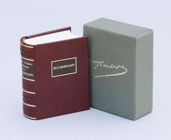 Bücherwahn als Buch (Ledereinband)