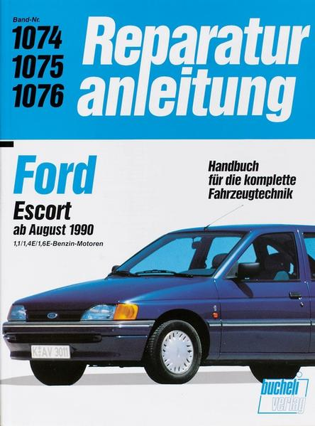 Ford Escort ab August 1990 als Buch