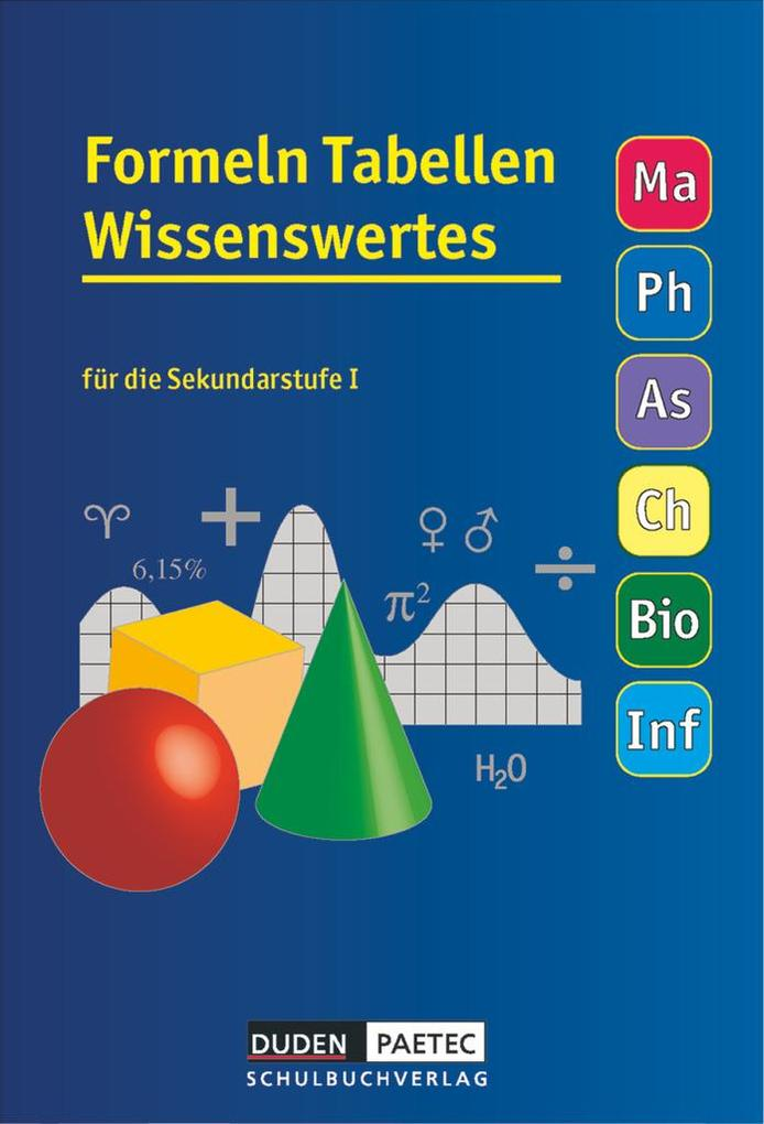 Formelsammlung 5.-10. Schuljahr Tabellen Wissenswertes als Buch (kartoniert)