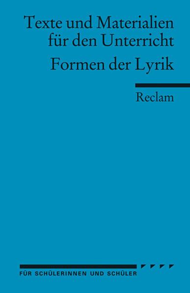 Formen der Lyrik als Taschenbuch