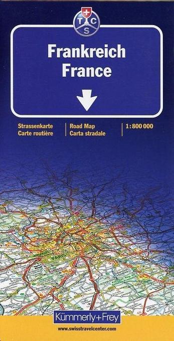 KuF Frankreich 1 : 800 000. Straßenkarte als Buch