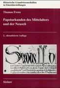 Papsturkunden des Mittelalters und der Neuzeit
