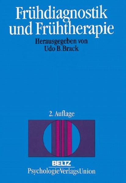 Frühdiagnostik und Frühtherapie als Buch