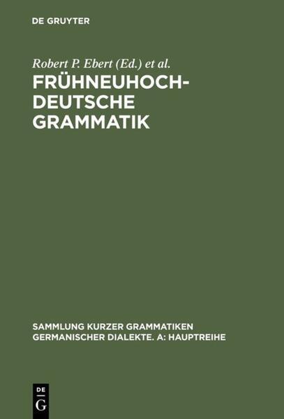 Frühneuhochdeutsche Grammatik als Buch