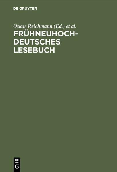 Frühneuhochdeutsches Lesebuch als Buch (gebunden)