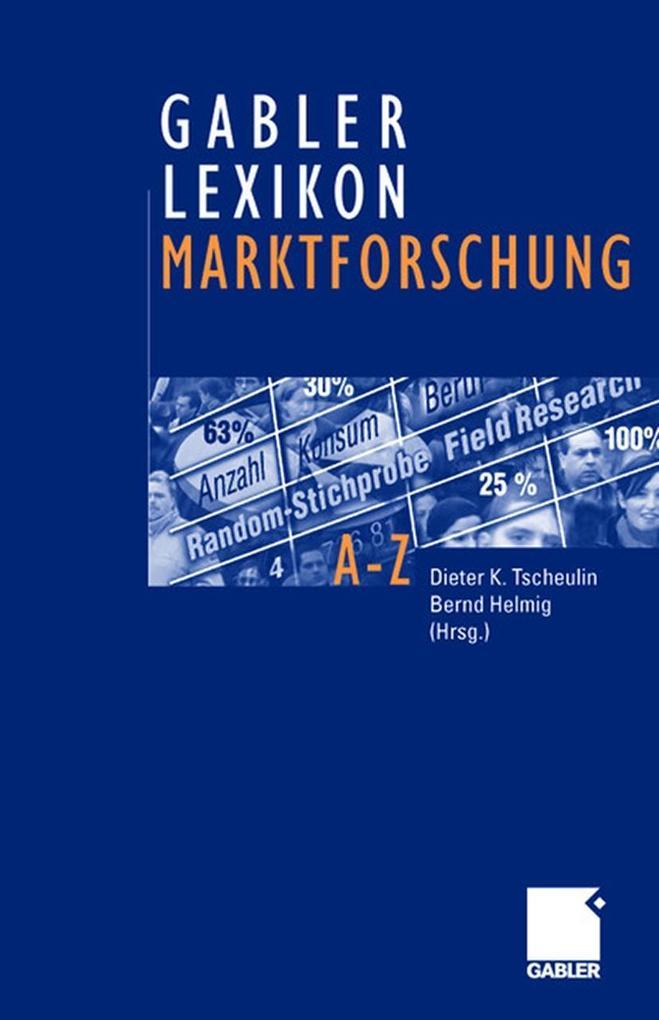 Gabler Lexikon Marktforschung als Buch