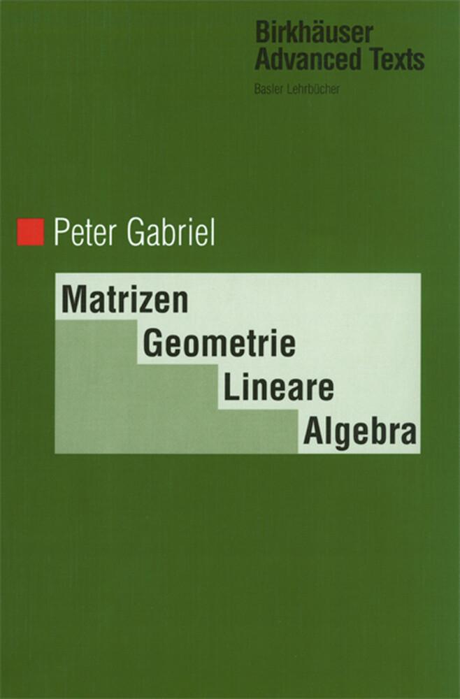 Matrizen, Geometrie, Lineare Algebra als Buch