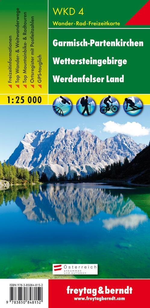 Garmisch-Partenkirchen: Wettersteingebirge, Werdenfelser Land 1 : 25 000 als Blätter und Karten