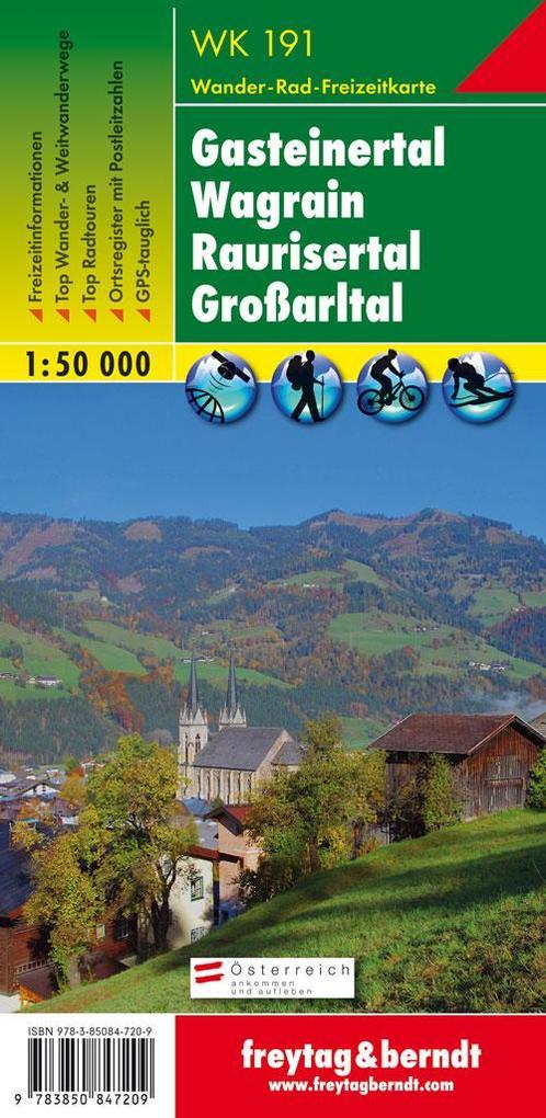 Gasteiner Tal, Wagrain, Raurisertal, Grossarltal 1 : 50 000. WK 191 als Buch