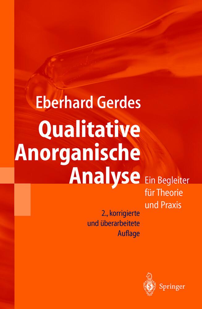 Qualitative Anorganische Analyse als Buch
