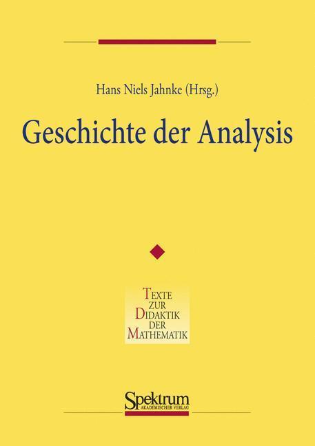Geschichte der Analysis als Buch