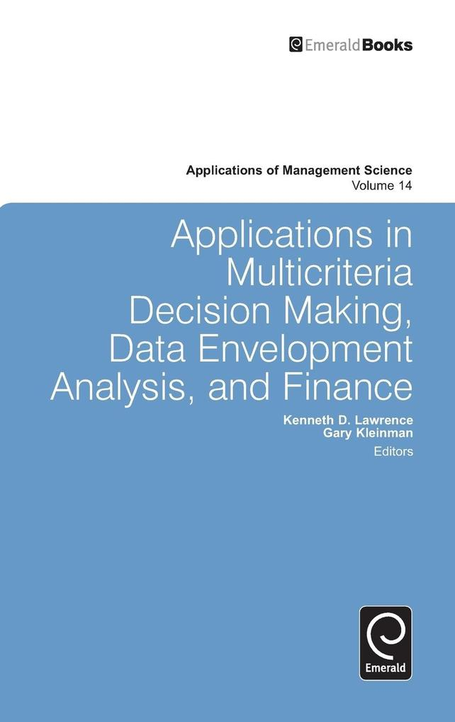 Applications in Multicriteria Decision Making, ...
