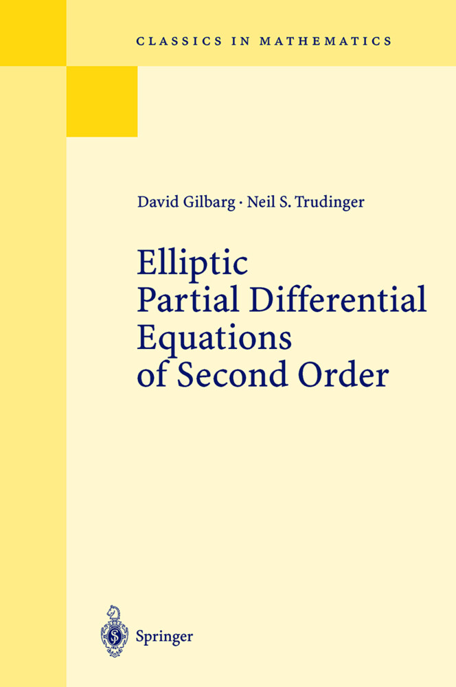 Elliptic Partial Differential Equations of Second Order als Buch