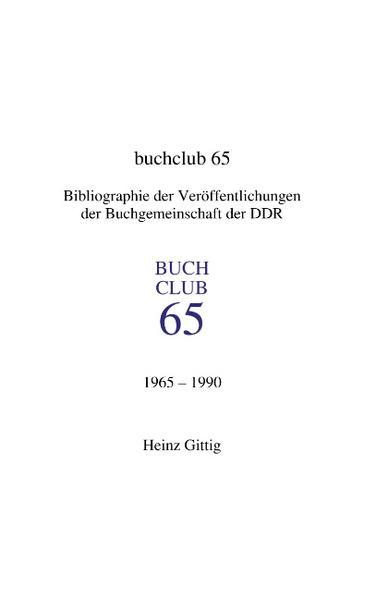 Buchclub 65. Bibliographie als Buch