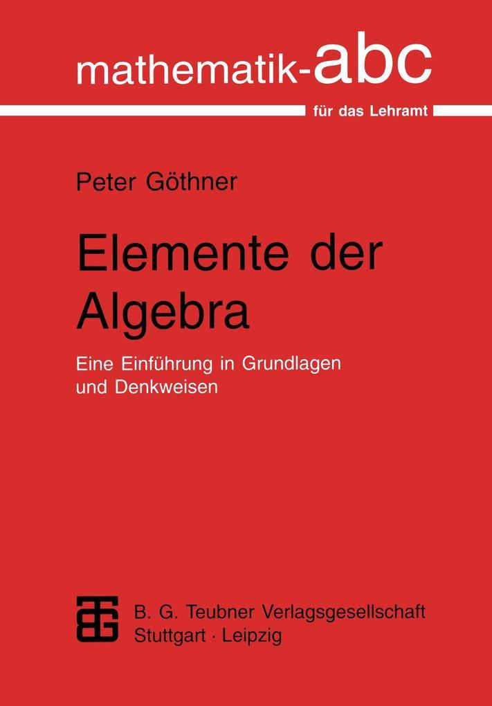 Elemente der Algebra als Buch