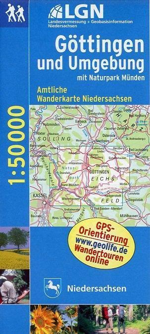 Göttingen und Umgebung mit Naturpark Münden 1 : 50 000. Topographische Karte mit Wanderwegen als Buch