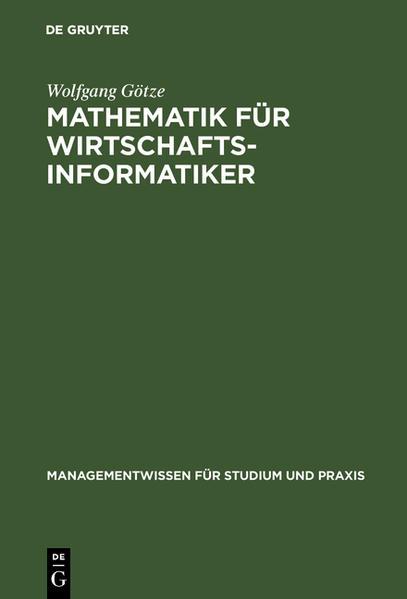 Mathematik für Wirtschaftsinformatiker als Buch