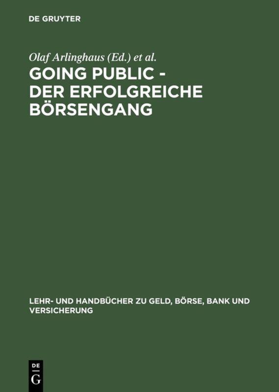 Going Public - Der erfolgreiche Börsengang als Buch (gebunden)