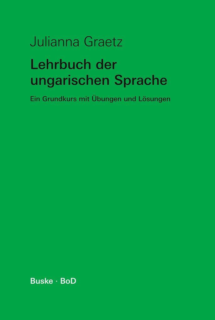 Lehrbuch der ungarischen Sprache als Buch