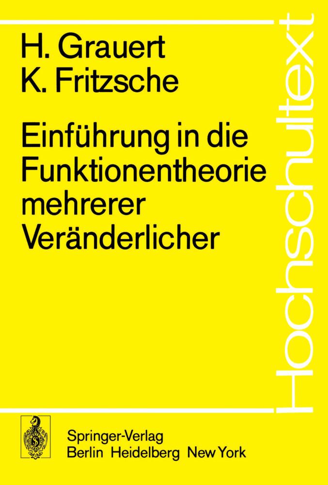 Einführung in die Funktionentheorie mehrerer Veränderlicher als Buch