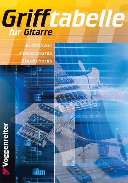 Grifftabelle für Gitarre als Buch (gebunden)