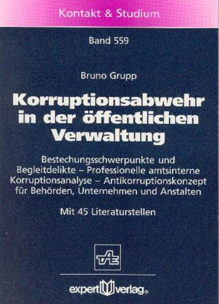 Korruptionsabwehr in der öffentlichen Verwaltung als Buch