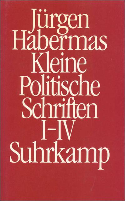 Kleine politische Schriften I/IV (Ln) als Buch