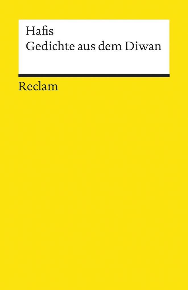 Gedichte aus dem Diwan als Taschenbuch