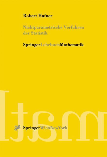 Nichtparametrische Verfahren der Statistik als Buch