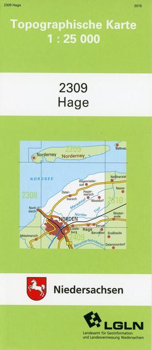 Hage 1 : 25 000. (TK 2309/N) als Buch