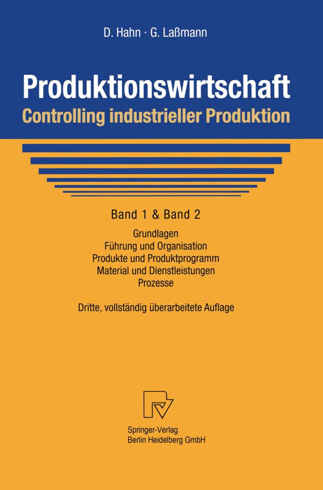 Produktionswirtschaft - Controlling industrieller Produktion als Buch