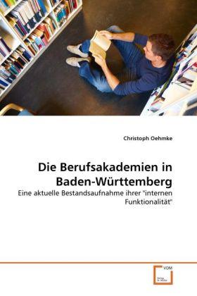 Die Berufsakademien in Baden-Württemberg als Bu...
