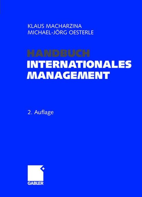 Handbuch Internationales Management als Buch