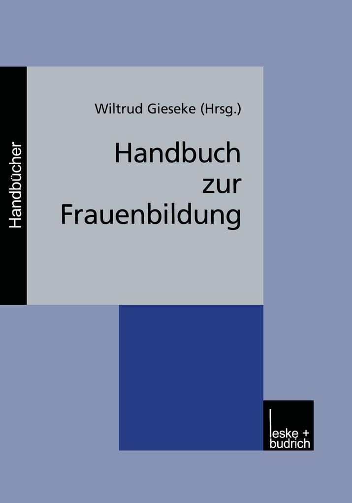 Handbuch zur Frauenbildung als Buch